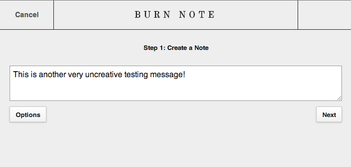 Burn Note - Private Messaging Service