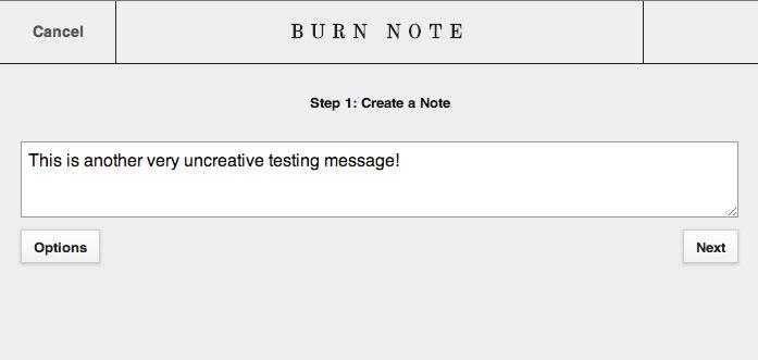 Burn Note - Private Messaging Service