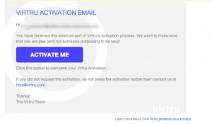 Virtru Email Activation Confirmation