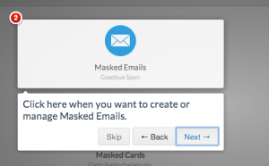 DoNotTrackMe - masked emails